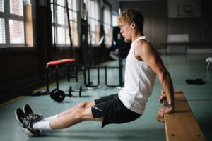 tricep dips- Workouts to gain weight